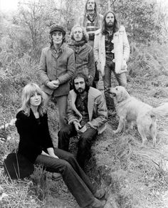 Fleetwood Mac, Penguin era - Christine McVie, Bob Weston, Bob Welch, John McVie, Mick Fleetwood, Dave Walker, dog