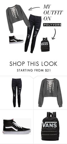 """ready to go to school"" by flower-14934012851 on Polyvore featuring Vans"