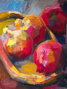 """A color study of pomegranates"" - © Lena Levin"