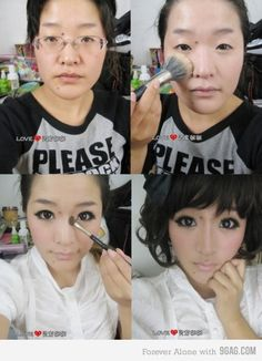 The impacts of makeup ladies and gents.
