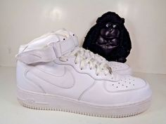 528afe6283c313 Mens Nike Air Force 1 Mid Basketball shoes size 13 US 315123-001 White