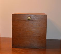 Vintage wood storage box, wooden box, wooden crate by MaAndPasAttic on Etsy