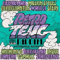 Retro Teng Riddim - Axxionpack Records Cover art work by Massa AquaFlow / Instagram @massaaquaflow .    The bassline is inspired by the timeless sleng teng riddim, the first computerized dancehall riddim, released 1985. #reggae #slengTeng #riddim #riddimalbum # cover #albumcover #coverart #dancehall #retroteng #beenieman #turbulence #millionStyez #burroBanton #ward21 #Stein #AnthonyB #LAZEE #DANJAH #T-SMALLZ #StarPrynce Anthony B, Beenie Man, Reggae, Cover Art, Album Covers, How To Draw Hands, Graphic Design, Retro, Artwork