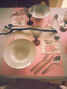 Abendessen mit Freundinnen - rosa schwarz Bulldogge Servietten Dog Napkins Rauchglas