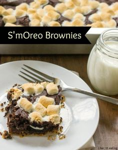 Oreo s'mores brownies are over-the-top delicious!