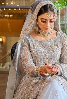 Asian Bridal Dresses, Asian Wedding Dress, Pakistani Wedding Outfits, Indian Bridal Outfits, Pakistani Wedding Dresses, Walima Dress, Desi Bride, Pakistani Bridal Makeup, Bridal Lehenga