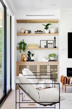 Living Room Modern, Home Living Room, Living Room Designs, Living Room Decor, Black And White Living Room, Black And White Office, White Fireplace, Wood Interior Design, Home Decor