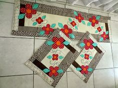 ArtesAna Artesanatos: Jogo de tapetes para cozinha