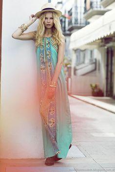 India Style vestidos primavera verano 2014.