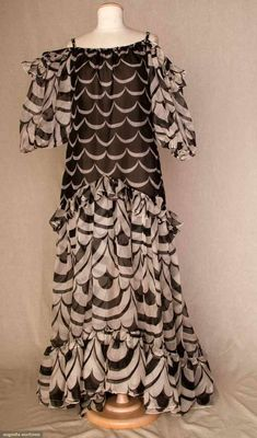 Saint Laurent Chiffon Gown, 1980s, Augusta Auctions, November 10, 2010 - St. Pauls - NYC, Lot 223