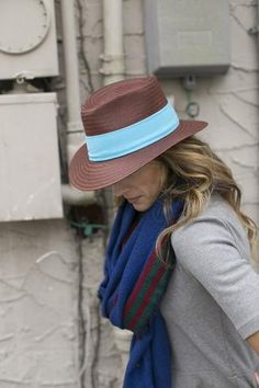 """Bermuda Straw in Toffee    $ 60.00  Fedora. Toffee.  Hand Woven Straw. 2.5"""" Brim. Made in USA. Adjustable sweatband to adjust to size.  https://www.fancyfedora.com/collections/fancy-fedora-hats/products/bermuda-trilby-toffee-hat"""