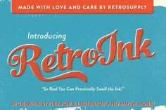 RetroInk | 71 Retro Ink Effects by RetroSupply Co. on @creativemarket