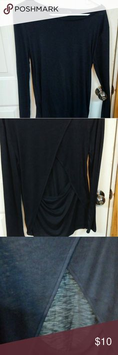 Shirt Black sheer shirt with opening in lower back JW Style Other