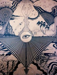 Space Mystery Eye /\ Sun // third eye // visions // the beach // cosmic ocean // space and time // the weather // mandala // psychedelic art // trippy hippie // op art - Art Inspo, Kunst Inspo, Inspiration Art, Tattoo Inspiration, Art And Illustration, Psychedelic Drawings, Psychedelic Pattern, Psy Art, Art Design