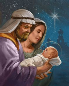 Leading Illustration & Publishing Agency based in London, New York & Marbella. Divine Mother, Mother Mary, Xmas Drawing, Religion, Joseph, Jesus Pictures, Catholic Art, Holy Family, Old Master