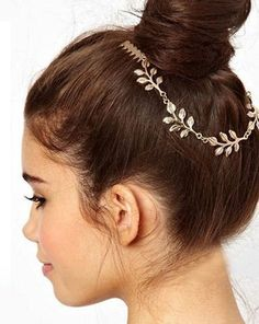 New Arrivals! Beautiful Gold Leaf Grecian Goddess Hair Adornment by MyClassyCollections