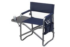 Folding Chair W/ Table, Navy