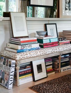 An assortment of books in designer Mike D. Sikes's home | archdigest.com