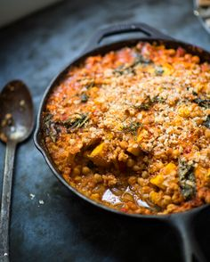 "Chickpea, pumpkin and cavolo nero ""cassoulet"""