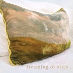 ..Van Gogh's favoured residence 'Arles' in soft silk velvet - home is where the heart is.. www.foundling.com.au