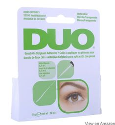 Duo Brush On Striplash Adhesive White/Clear by Duo. Brush On Striplash Adhesive with Vitamin A, C, & E. Brush On Striplash Adhesive. Easy To Apply. Beauty Tips For Teens, Beauty Tips For Hair, Beauty Makeup Tips, Beauty Hacks, Beauty Stuff, Beauty Products, Eye Makeup, Ardell Eyelashes, Fake Lashes