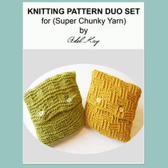 Rae Duo Cable Cushion Knitting Pattern Duo set