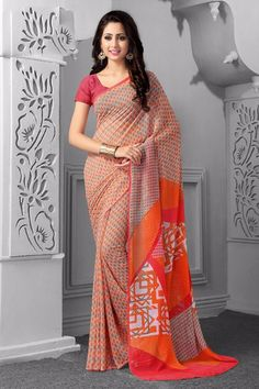 Specifications : Fabric Details Material Georgette Length 6.3 Mtr Blouse Unstitched General Details Work Casual Type Saree Occasion Casual saree Disclaimer :