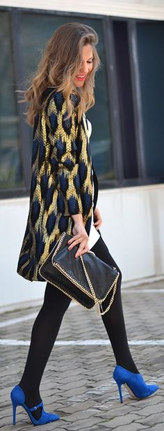 City 'Chic' Fashion & Style ❤ ♥  Gold Leopard Jacket by Mi Aventura Con La Moda