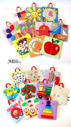 A big developing toy set of tablets /Quiet Book Busy by MiniMoms: