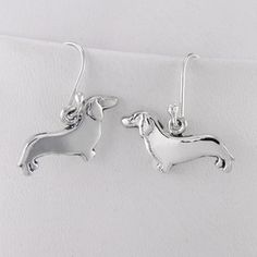 Dachshund Earrings, $64, now featured on Fab.