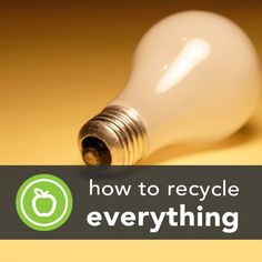 How to Recycle Anything (the Sustainable Way) -Posted by Sophia Breene on November 15, 2013