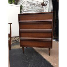 Best Vintage Mid Century Modern Bassett Furniture Tavern Walnut 400 x 300