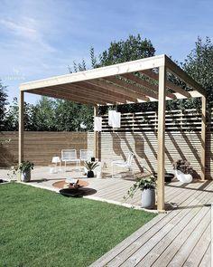 Pergola Patio, Backyard Patio, Outdoor Spaces, Outdoor Living, Outdoor Decor, Dream Garden, Home And Garden, Balcony Garden, Garden Inspiration