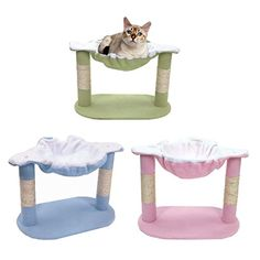 "cat scratching post stairs - Hot Sale! 15\"" Cat Tree Furniture Kitten Scratching Condo Scratcher Post Pet Play House (20.08 x 12.20 x 14.57\"", Pink)   #CatScratchingPost"