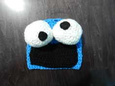 Cookie Monster Beanie for Newborn to 3 month old by QUETITA