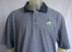 Ashworth 2008 Torrey Pines U S Open Polo Golf Shirt Blue / White Stripped  XL  #Ashworth #PoloRugby