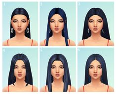 hi I just wanted to know if you have any good straight middle-parted hairs, im looking for 2002 Avril Lavigne type hairs! thanks hey! Sims 3, Sims Four, Sims 4 Mm Cc, Sims 4 Cas, Los Sims 4 Mods, Sims 4 Game Mods, Sims Games, Maxis, Middle Part Hairstyles