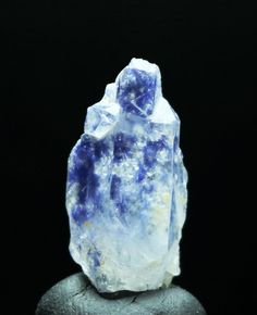 Huge 15 Carat Dumortierite in Quartz ~ Rough Crystal Mineral ~ Beautiful Blue Specimen ~ Expression ~ Chakra ~ Meditation ~ Aura by OHowEnchanting on Etsy