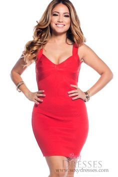 Sexy Red Sweetheart Neckline Bandage Dress ff4faa550
