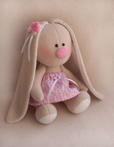 DIY Easy sewing Kit Rabbit doll Pattern&supplies Pink by irastor