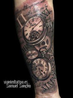 Double Pocket Watch Tattoo : double, pocket, watch, tattoo, Pocket, Watch, Tattoos, Ideas, Tattoos,
