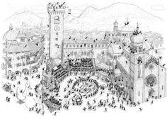 "Puzzle ""Trento"". #formiche #puzzle #trento #belpaese #trentino #art #duomo #piazza #belpaese"