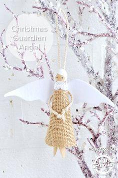 Guardian Angel Peg Doll – DIY Christmas Tree Decoration