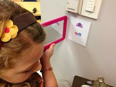 """Fun Word Wall Activity:  """"Mirror, Mirror on the Wall""""  {From Creating Readers and Writers Blog}"""