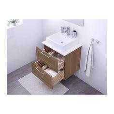 Plan vasque suspendu et mobilier poser en bois pour for Meuble 45x45