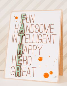 Father's Day Card idea using a Silhouette (Mix Fonts Silhouette) Diy Father's Day Gifts, Father's Day Diy, Fathers Day Crafts, Happy Fathers Day, Dad Birthday, Birthday Cards, Birthday Puns, Scrapbook Cards, Scrapbooking