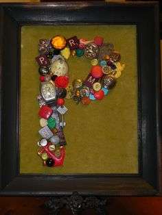 I made this Christmas gift from vintage odds and ends, anything from old buttons to watches. This project was lots of fun and great personal touch for friends and family.