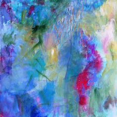 """Abstract Painting on Canvas Intuitive Expressionist Acrylic Painting """"Gazing at the Waters"""" #EasyNip"""