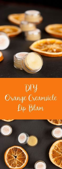 Easy to make Orange Creamsicle Lip Balm. Simple recipe to help soothe your chapped lips. Easy to make Orange Creamsicle Lip Balm. Simple recipe to help soothe your chapped lips. Homemade Lip Balm, Diy Lip Balm, Homemade Facials, Diy Beauty Lip Balm, Diy Beauty Cream, Lip Balm Labels, Homemade Deodorant, Homemade Moisturizer, Homemade Soaps