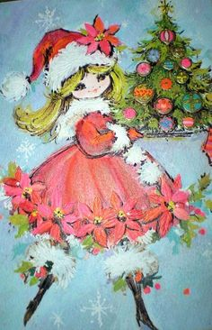 Old Fashioned Christmas Girl, wallpaper old fashioned christmas, high resolution vintage christmas wallpaper Hallmark Greeting Cards, Vintage Greeting Cards, Christmas Greeting Cards, Christmas Greetings, Vintage Christmas Images, Retro Christmas, Vintage Holiday, Christmas Girls, Holiday Fun